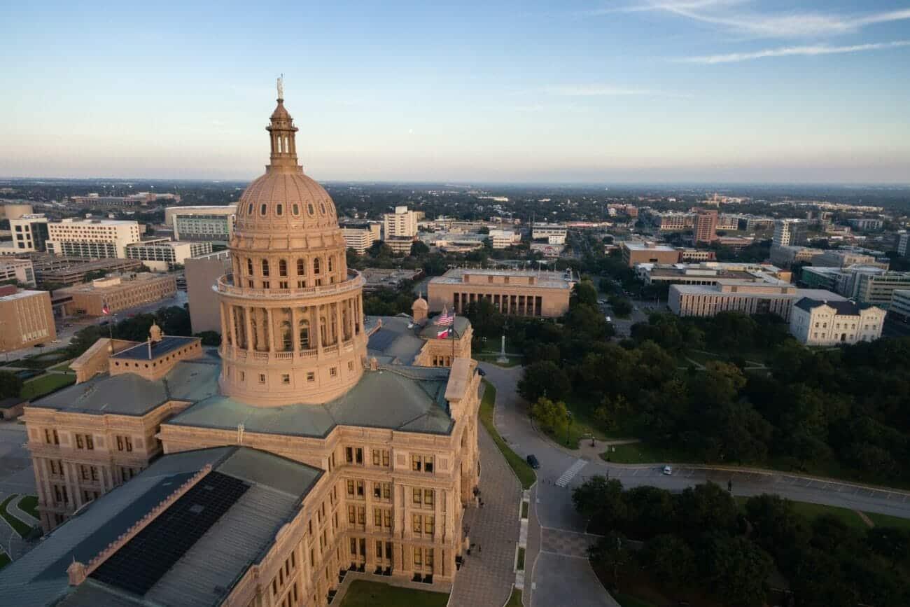 Capital Building Austin Texas Government Building Blue Skies